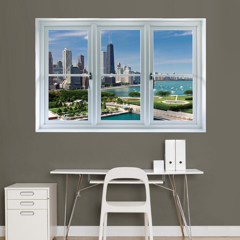 Chicago Skyline Window Decal Sticker Vinilo para ventana en ...