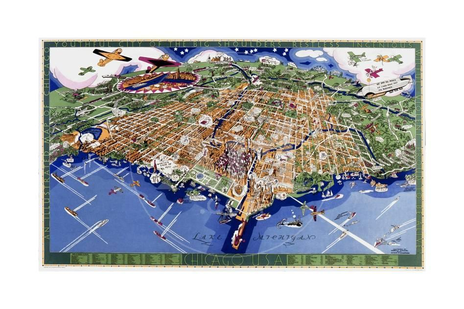 Chicago World S Fair Map Giclee Print At Allposters Com