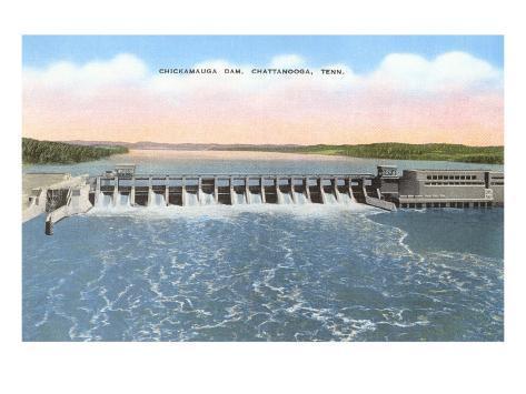 Chickamauga Dam, Chattanooga, Tennessee Art Print