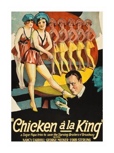 Chicken a La King Konstprint