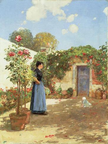 A Sunny Morning, Villiers-Le-Bel, 1888 Lámina giclée