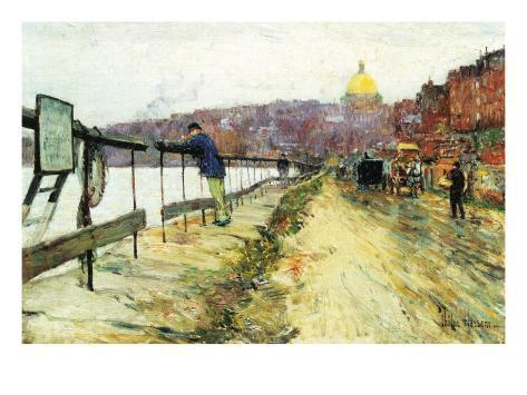 Charles River and Beacon Hill Art Print