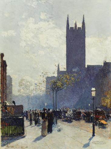 Lower Fifth Avenue, 1890 Giclee Print