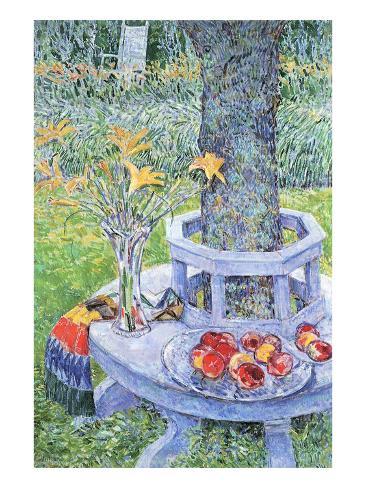 Mrs. Hassam's Garden Art Print