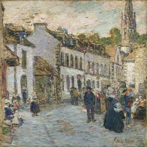 Street in Pont Aven - Evening, 1897 Giclee Print