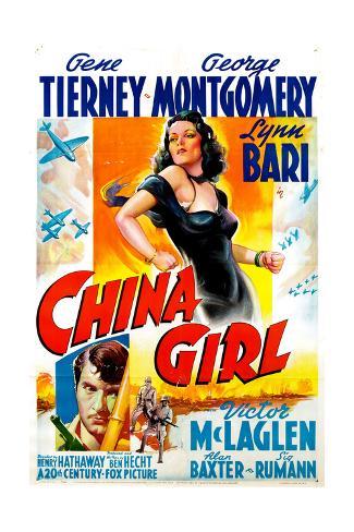 China Girl, Gene Tierney, George Montgomery, 1942 Giclee Print