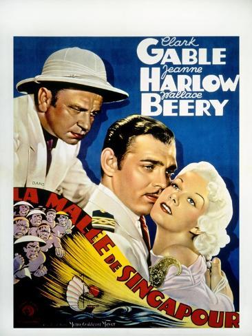 China Seas, Wallace Beery, Clark Gable, Jean Harlow, 1935 Photo