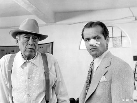 Chinatown, John Huston, Jack Nicholson, 1974 Photo