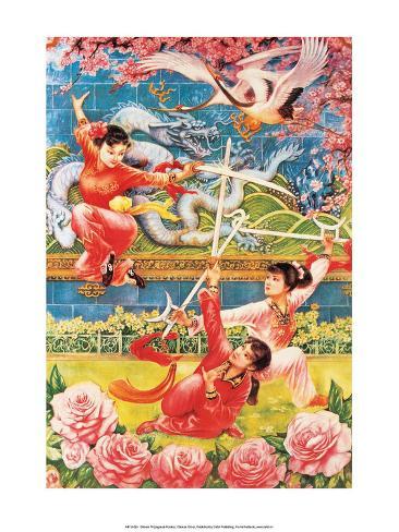 Chinese Circus Propaganda Poster Stampa artistica