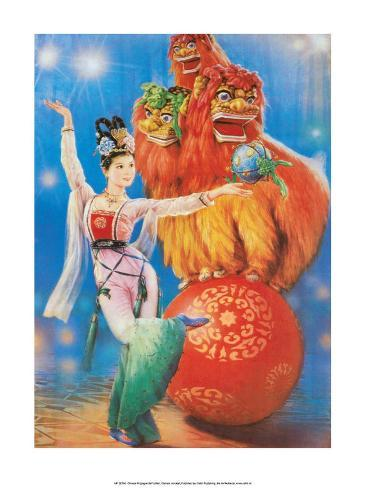 Chinese Happy New Year Circus Poster Stampa artistica