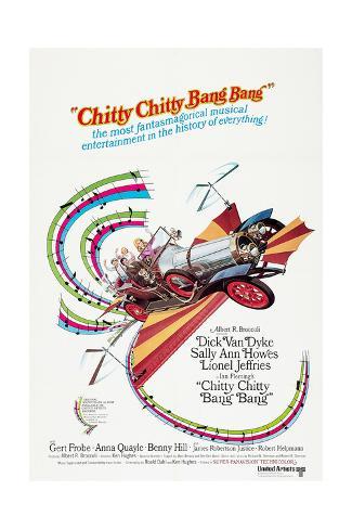 Chitty Chitty Bang Bang, Dick Van Dyke, Sally Ann Howes, 1968 Art Print