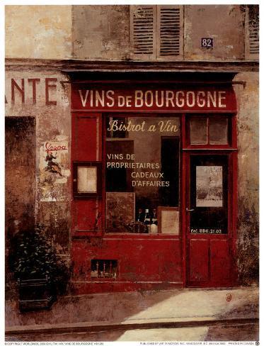 Vins de Bourgogne Art Print