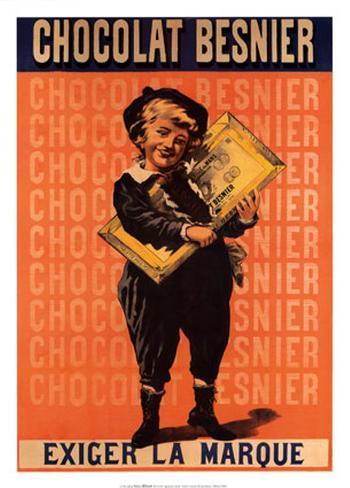 Chocolat Besnier Exiger La Marque Art Print
