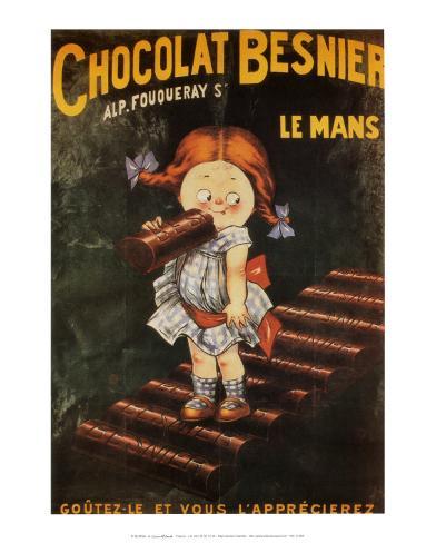 Chocolat Besnier Le Mans Art Print