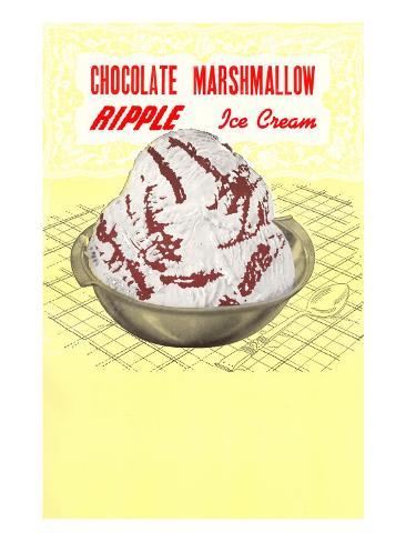 Chocolate Marshmallow Ripple Ice Cream Taidevedos