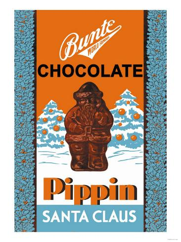 Chocolate Pippin Santa Claus Art Print