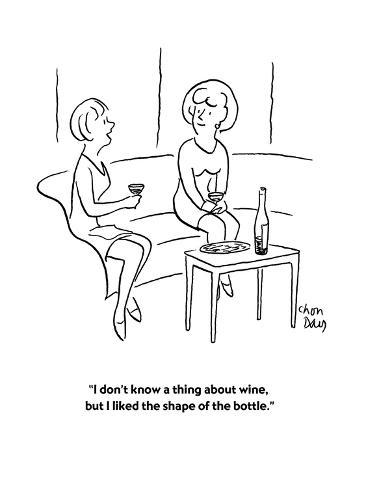 I don\'t know a thing about wine, but I liked the shape of the bottle ...