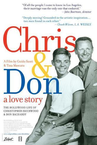 Chris and Don. A Love Story Poster