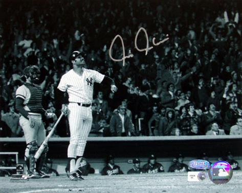 Chris Chambliss Autographed ALCS Game Winner HR B&W Horizontal Photograph (MLB Auth) Photo