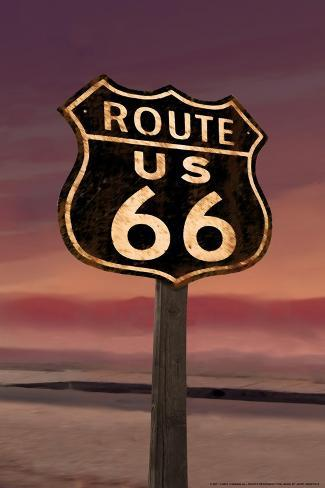 Route 66 Stampa artistica