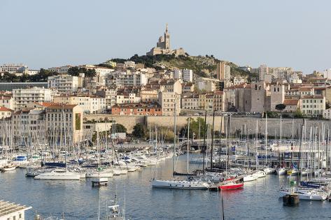 Basilique notre dame de la garde old port of marseille harbour vieux port marseille - Pharmacie de garde marseille vieux port ...