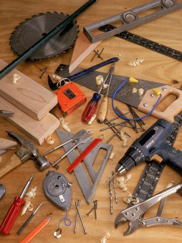 Carpentry Tools Photographic Print