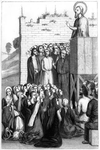 Christ Preaching, 15th Century Lámina giclée