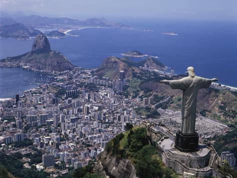 Christ the Redeemer Statue Rio de Janeiro, Brazil Lámina fotográfica