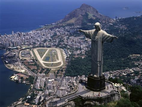 christ the redeemer statue rio de janeiro brazil photographic print