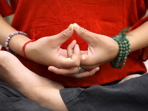 Yoga Hands in Yogic Mudra Pose Photographic Print