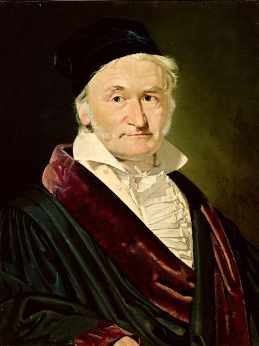 Portrait of Carl Friedrich Gauss, 1840 Giclee Print