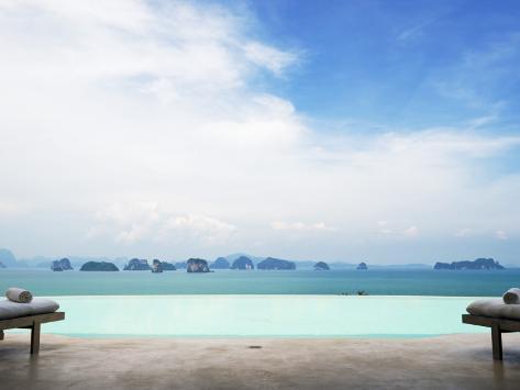 View from Infinity Pool at Six Senses Destination Spa Phuket Photographic Print