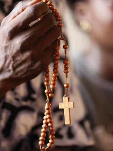 Christian Couple Praying, Togoville, Togo, West Africa, Africa Photographic Print