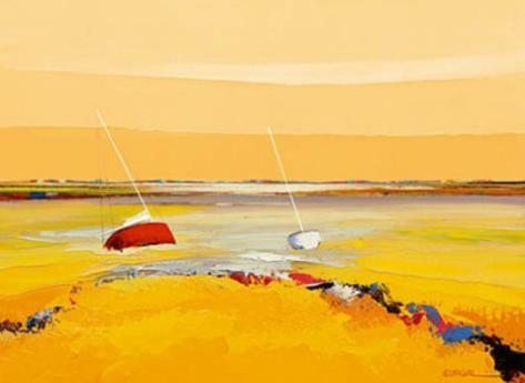 Barques Sur Horizon Art Print