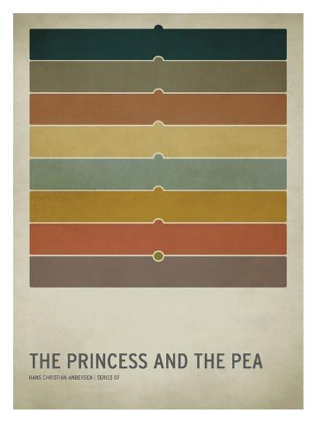 The Princess and the Pea Impressão artística