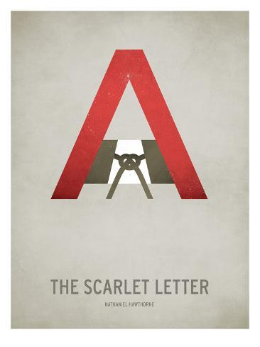 The Scarlet Letter Minimal Print By Christian Jackson At