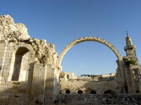 Arch of the Hurva Synagogue, Old Walled City, Jerusalem, Israel, Middle East Photographic Print