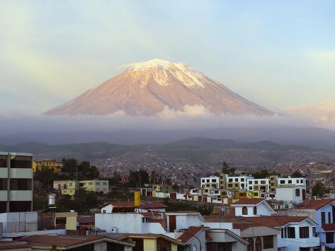 El Misti Volcano 5822M Above City, Arequipa, Peru, South America Photographic Print
