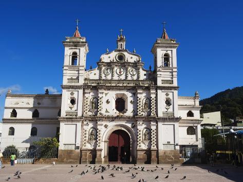 Iglesia Los Dolores, Tegucigalpa, Honduras, Central America Lámina fotográfica