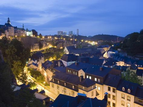 Old Town, Luxembourg City, Grand Duchy of Luxembourg, Europe Photographic Print