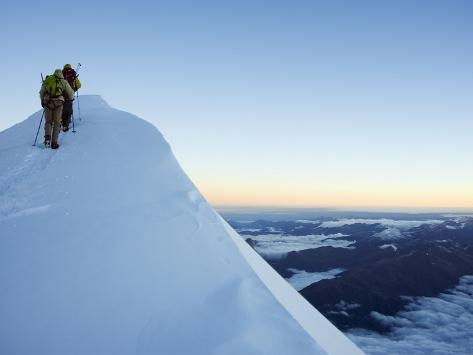 Summit Ridge of Mont Blanc, 4810M, Chamonix, French Alps, France, Europe Photographic Print