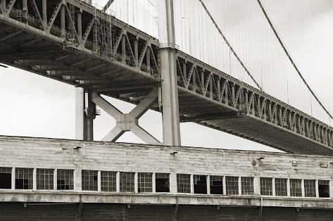 Bay Bridge and Pier, no. 1 Stretched Canvas Print