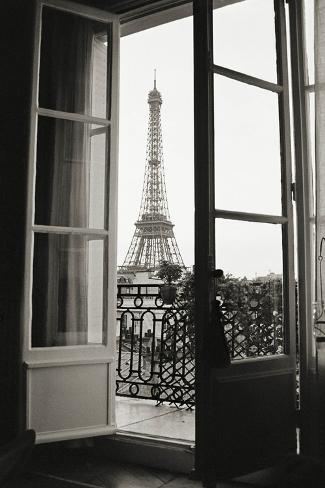 Eiffel Tower through French Doors Art Print