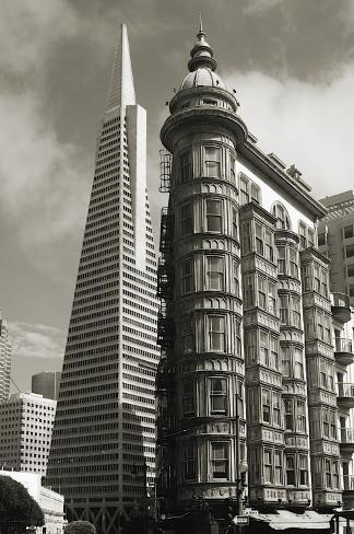 San Francisco Iconic Buildings Stretched Canvas Print