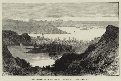 Christiansand, in Norway, the Scene of the Recent Disastrous Fire Giclee Print