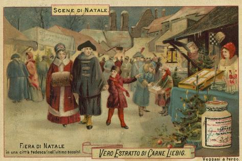 Christmas Fair in a German City Lámina giclée