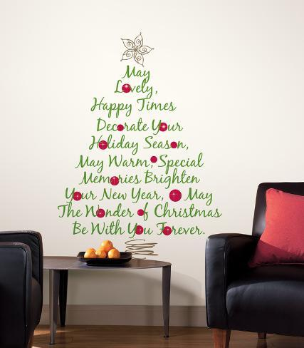 Christmas Tree Quote Peel & Stick Giant Wall Decals Wall Decal