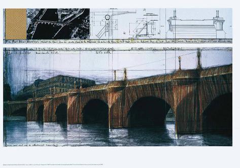 Le Pont Neuf Wrapped I Art Print