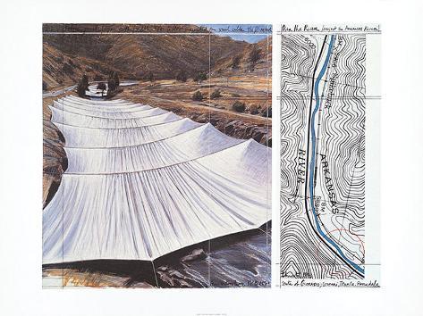 Over the River VII: Above Impressão artística