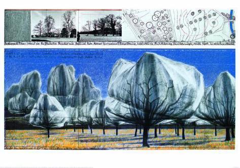 Wrapped Trees VI Impressão artística
